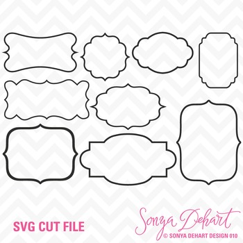 SVG Cuts and Clip Art Frames Classroom Decor Silhouette Cr