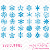 SVG Cuts and Clip Art Snowflakes Classroom Decor Silhouett