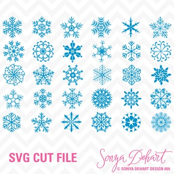 SVG Cuts and Clip Art Snowflakes Classroom Decor Silhouett