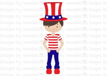 SVG, DXF, Pdf, Studio3 Cut file CF12 Independence Day Boy