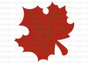 SVG, DXF,Pdf, Studio3 Cut file CF38 Fall Harvest Leaf