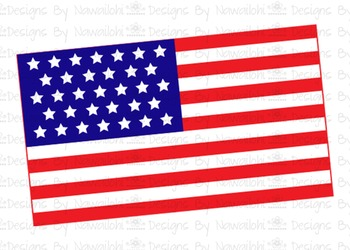 SVG, DXF, Pdf, Studio3 Cut file CF9 Independence Day Flag
