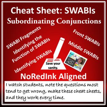 Cheat Sheet: SWABIs (subordinating conjunctions) | NoRedIn