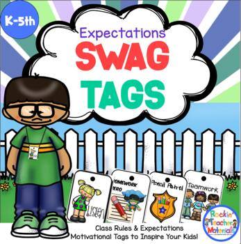 SWAG TAGS [Brag Tags] - Class Rules & Expectations Super P