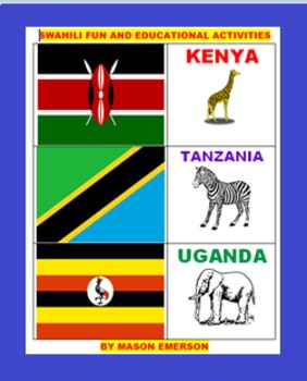 LANGUAGE: SWAHILI FUN AND WORK ACTIVITIES (SALE PRICED, 32 PAGES)