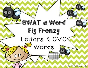 SWAT a Word: Fly Frenzy- Letters and CVC Words