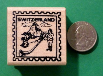 SWITZERLAND Country/Passport Rubber Stamp