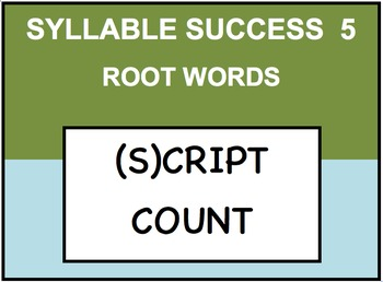 SYLLABLE SUCCESS 5  - PREFIXES, SUFFIXES, ROOT WORDS