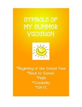 Back to School Math - Symbols of My Summer Vacation