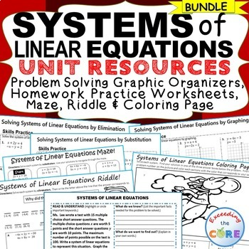 SYSTEMS OF LINEAR EQUATIONS - Homework Practice, Graphic O