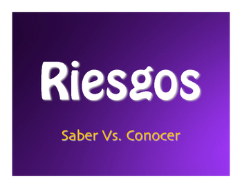 Saber Vs Conocer Jeopardy-Style Review Game