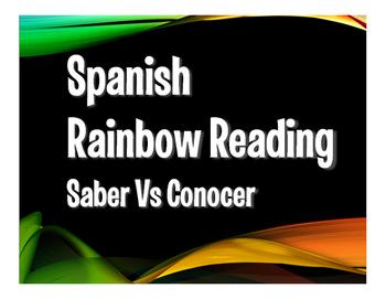 Saber Vs Conocer Rainbow Reading