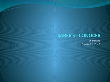 Saber Vs Conocer powerpoint