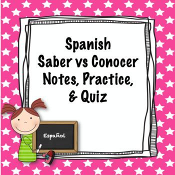Spanish Saber vs Conocer Quiz