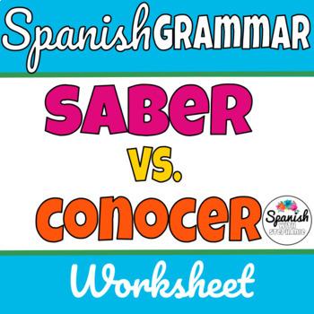 Saber y Conocer worksheet
