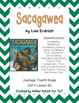 Sacagawea Supplemental Activities 4th Grade Journeys Unit