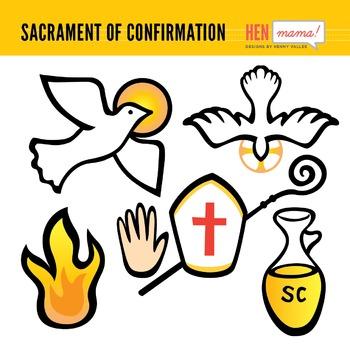 Sacrament of Confirmation Clip Arts