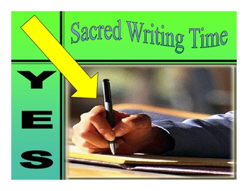 Sacred Writing Time Expectations for MAISA Launching Write