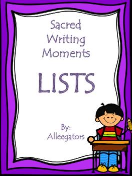Sacred Writing Time - Lists