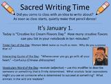 For Writer's Notebooks: Sacred Writing Time Slide Sampler,