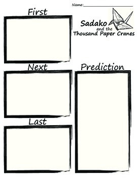 Sadako and the Thousand Paper Cranes- Event Sequencing and
