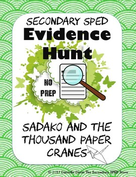 Sadako and the Thousand Paper Cranes Evidence Hunt - No Pr