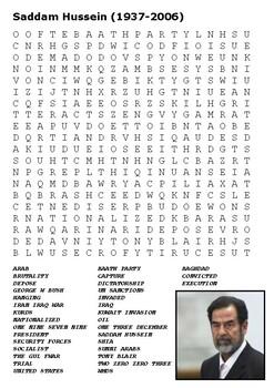 Saddam Hussein Word Search