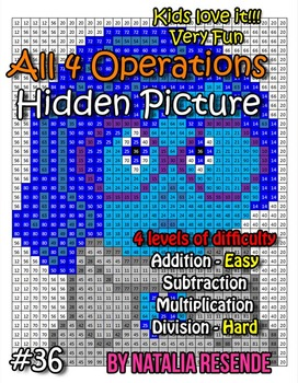 Sadness - Inside Out - Mystery Picture - 4 operations - Fo