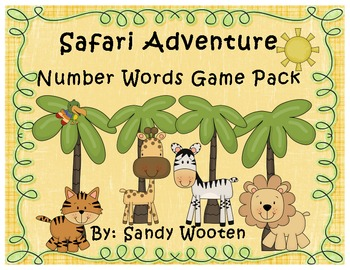 Number Words Safari Adventure Differentiated Small Group G