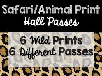 Safari / Animal Print Classroom Decor: Hall Passes
