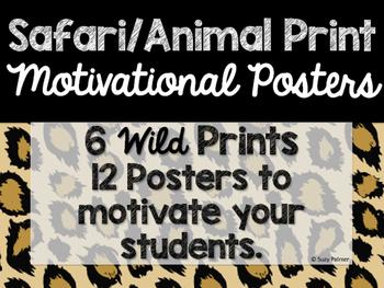 Safari / Animal Print Classroom Decor: Motivational Posters