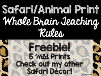 Safari / Animal Print Classroom Decor: Whole Brain Teachin