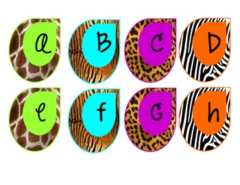 Safari-Animal Print Word Wall Letters ***