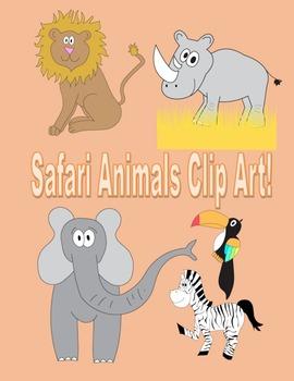 Safari Animals Clip Art for TPT Sellers