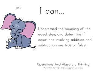 Safari Animals Theme 1st grade math Common Core Posters fi