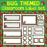 Bug Themed Classroom Label Set {Editable}