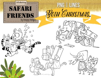 Safari Friends: It's Cold Outside! Original Christmas and