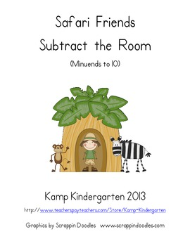 Safari Friends Subtract the Room (Minuends to 10)