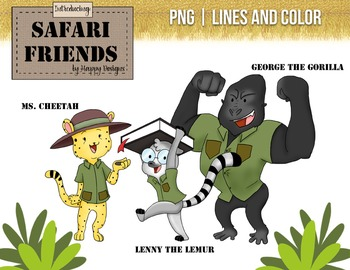 Safari Friends: Teachers! Original clip art images.