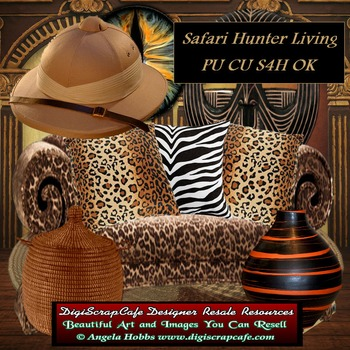 Safari Hunter Living Transparent Commercial Use Clip Art