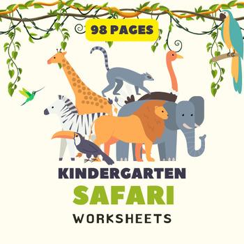 Safari Animals Worksheets