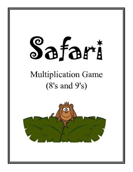 Safari: Math Multiplication Board Game (Multiply with 8's