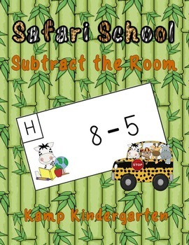 Safari School Subtract the Room (Minuends to 10)