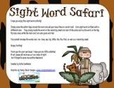Safari Sight Word Practice