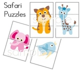 Safari Simple Puzzles - Preschool Kindergarten