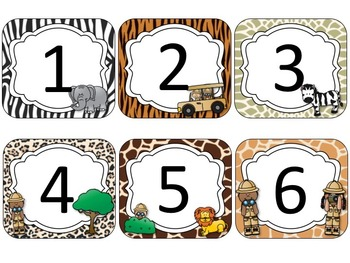Safari Theme Calendar Cards {EDITABLE}