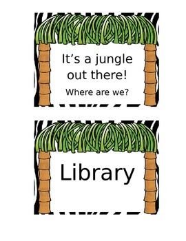 Safari Theme Where are We Classroom Door Sign