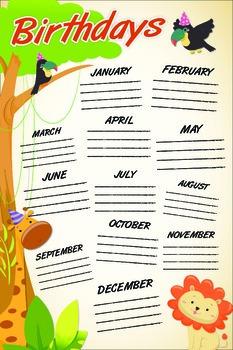 Safari Themed Birthdays Poster
