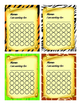 Safari Themed Incentive Charts