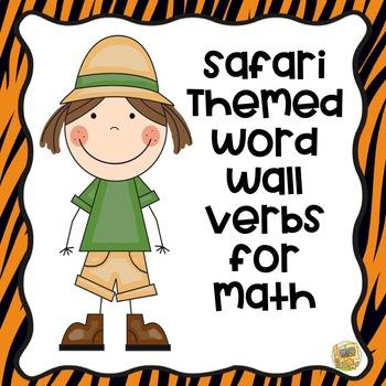 Safari Themed - Word Wall Verbs for MATH!
